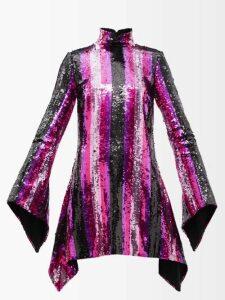 Jonathan Simkhai - Mid-rise Pleated Midi Skirt - Womens - Navy Silver