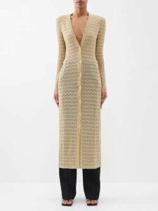Valentino - Optical Print Wrap Shirtdress - Womens - Navy Print