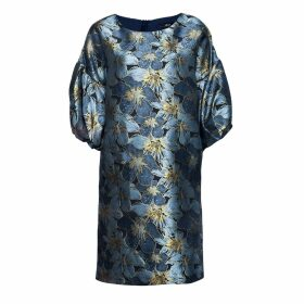 Nissa - Brocade Dress With Puffed Sleeves