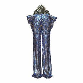 JIRI KALFAR - Sequin Green & Blue & Gold Trousers