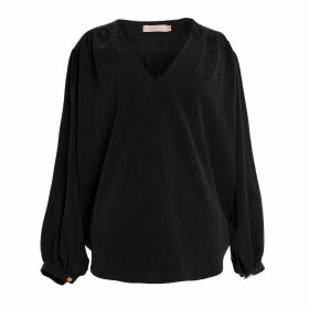 Tomcsanyi - Hatarut Charcoal Gathered Top