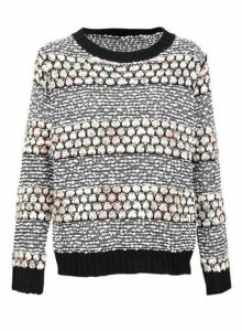 Womens *Izabel London Black Pebble Knit Jumper, Black