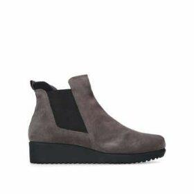 Womens Regina 40 Mm Heel Ankle Boots Carvela Comfort Taupe Flat Chelsea Ankle Boot, 3.5 UK