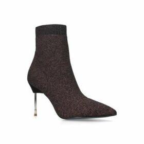 "5!! /""Kurt Geiger/"" Miss KG New Wine Red Leather Lined Wedge Platform UK4"