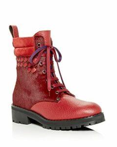 Bottega Veneta Women's Calf Hair Hiking Boots