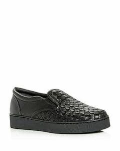 Bottega Veneta Women's Woven Slip-On Sneakers
