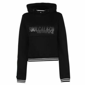 SoulCal Foil Print Hoody Ladies - Black