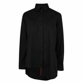 Kendall and Kylie Button Up Shirt - Black BLK