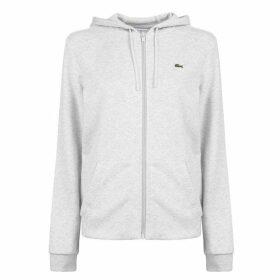 Lacoste Logo Zip Hoodie - Grey