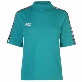 Umbro Short Sleeve Crop T Shirt - Parasail/Blush