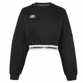 Umbro Long Sleeve Cropped Jumper - Black/White