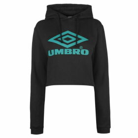 Umbro Crop Hoody - Black/Parasail
