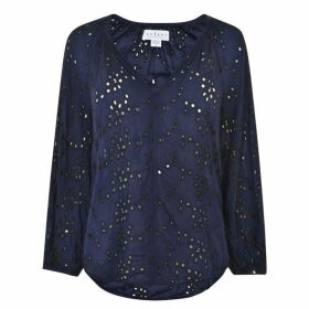 Velvet Top - Navy/Black