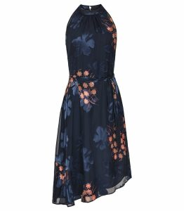 Reiss Lake - Floral Burnout Dress in Multi, Womens, Size 16