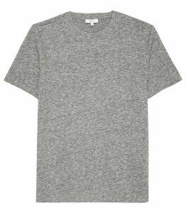 Reiss Venice - Melange Crew Neck T-shirt in Soft Grey, Mens, Size XXL