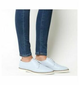 Office Fifth-pointed Eva Lace Up BLUE LEATHER