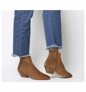 Office Atone- Western Block Heel Boot TAN SUEDE