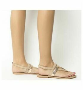 Office Salute Toe Post Sling Back NUDE LEATHER  ROSE GOLD