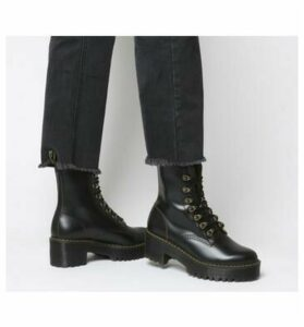 Dr. Martens Leona Lace Boot BLACK