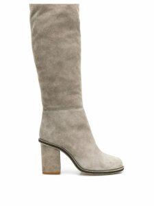 Lanvin block heel boots - Grey