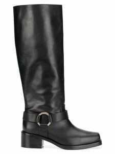 Red Valentino RED(V) harness boots - Black