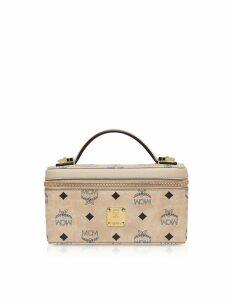 MCM Designer Handbags, Visetos Original Rockstar Vanity Case Crossbody Bag