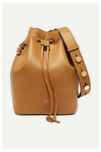 Fendi - Mon Trésor Leather Bucket Bag - Tan