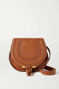 Chloé - Marcie Mini Textured-leather Shoulder Bag - Tan