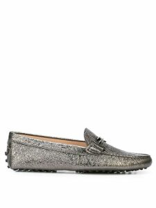 Tod's double T loafers - SILVER