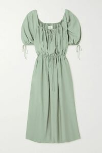 rag & bone - Tommi Mesh-paneled Silk Crepe De Chine Blouse - Black