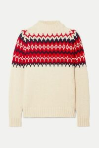 &Daughter - Bansha Fair Isle Wool Sweater - Cream