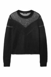 rag & bone - Blaze Paneled Open-knit Sweater - Black