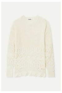 Jil Sander - Crochet-knit Cotton Sweater - Off-white