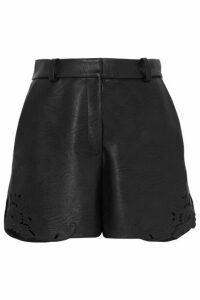 Stella McCartney - Laser-cut Faux Leather Shorts - Black