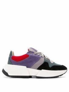 Mm6 Maison Margiela colourblock chunky sneakers - Grey
