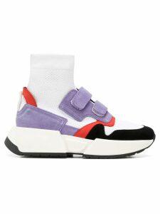 Mm6 Maison Margiela touch strap sock sneakers - White