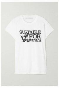 Stella McCartney - Printed Cotton-jersey T-shirt - White