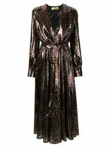 MSGM leopard-print sequinned dress - Brown