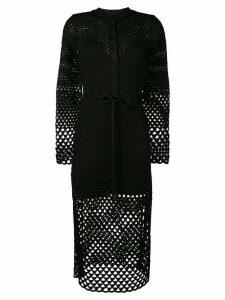 Proenza Schouler Lurex Open Stitch Dress - Black