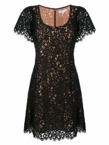 Michael Michael Kors shortsleeved lace dress - Black