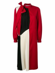 Atu Body Couture pleated panel midi dress - Red