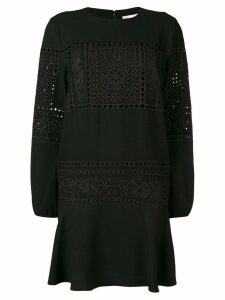 Red Valentino lace embroidered dress - Black