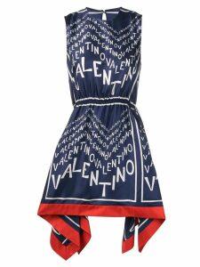 Valentino logo-print dress - Blue