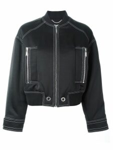 Kenzo stitch detailed bomber jacket - Black