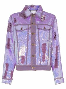 Ashish x Browns sequin embellished denim jacket - Purple