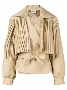 Atu Body Couture Sundown pleated jacket - Brown
