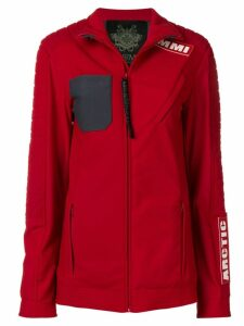 Mr & Mrs Italy Arctic ribbed jacket - Red