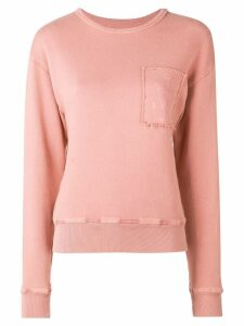 JW Anderson GARMENT DYED JWA ANCHOR PATCH SWEATSHIRT - PINK