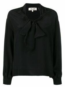 Diane von Furstenberg pussy bow blouse - Black