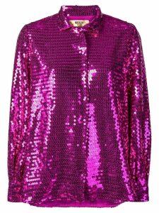 MSGM sequinned blouse - PURPLE